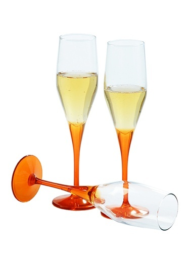 6 Lı Dream Şampanya Kadehi Oranj-Paşabahçe